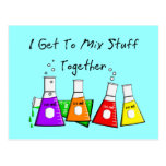 """Chemist """"I Get To Mix Stuff Together"""" Funny Gifts Postcard"""