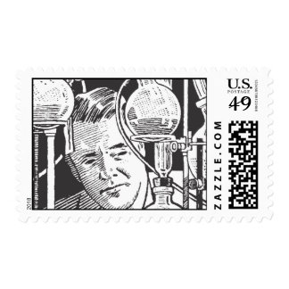 Chemist in Black and White Postage