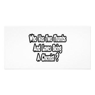 Chemist Joke...Two Thumbs Photo Card Template
