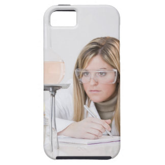 Chemist looking at Bunsen burner iPhone SE/5/5s Case