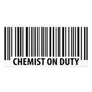 chemist on duty icon photo greeting card
