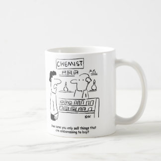 Chemist only sells embarrassing products coffee mug