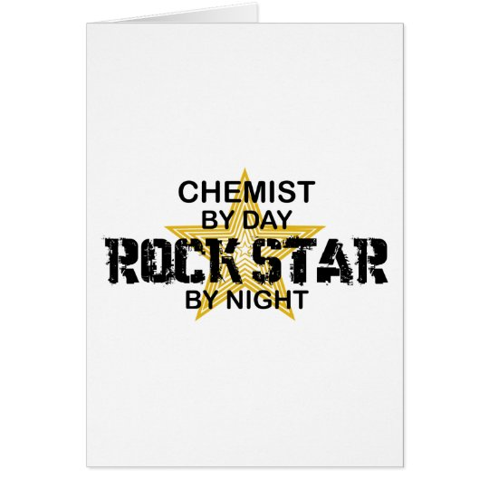 Chemist Rock Star by Night Card