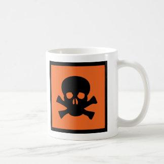 chemist skull sign coffee mugs