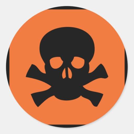 chemist skull sign sticker