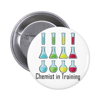 Chemist student chemistry kid pinback button