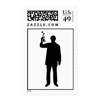 Chemist test tube postage stamps