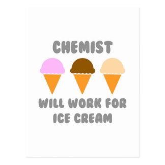 Chemist ... Will Work For Ice Cream Postcards