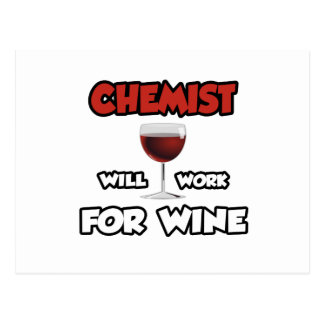 Chemist ... Will Work For Wine Post Card