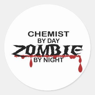 Chemist Zombie Classic Round Sticker