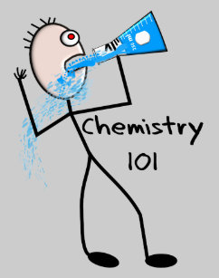 Chemistry  Stickman Design Funny Gifts Keychain
