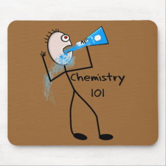 Chemistry 101  Stickman Design Funny Gifts Mouse Pad