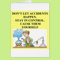 chemistry accidents card