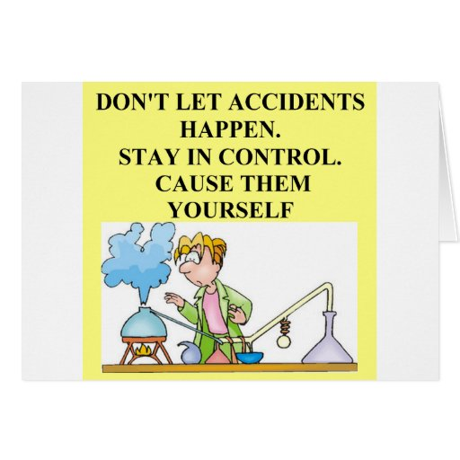 chemistry accidents greeting card