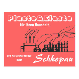 Chemistry advertising Design GDR Postcard