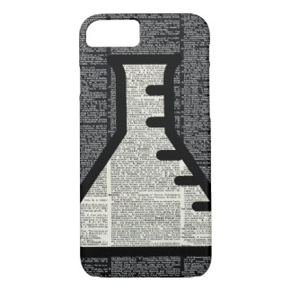 Chemistry Alchemy Vial on Dictionary page iPhone 8/7 Case