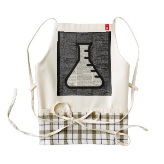 Chemistry Alchemy Vial on Dictionary page Zazzle HEART Apron