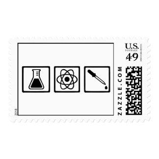 Chemistry atom test tube stamps