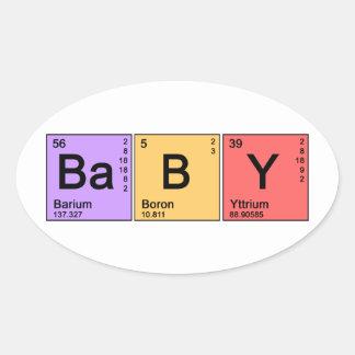 Chemistry Baby Oval Sticker