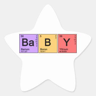 Chemistry Baby Star Sticker