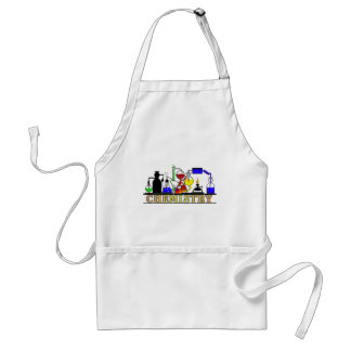 CHEMISTRY BEAKERS AND FLASKS LOGO ADULT APRON