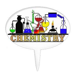 CHEMISTRY BEAKERS AND FLASKS LOGO CAKE TOPPER
