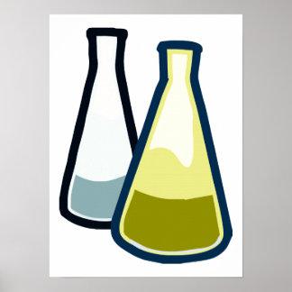 Chemistry Beakers Poster