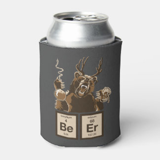 Chemistry bear discovered beer can cooler