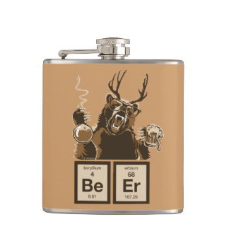 Chemistry bear discovered beer flask
