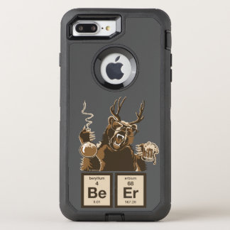 Chemistry bear discovered beer OtterBox defender iPhone 8 plus/7 plus case
