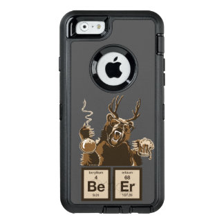 Chemistry bear discovered beer OtterBox defender iPhone case