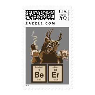 Chemistry bear discovered beer postage