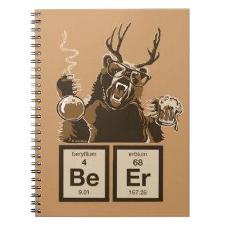 Chemistry bear discovered beer spiral notebook