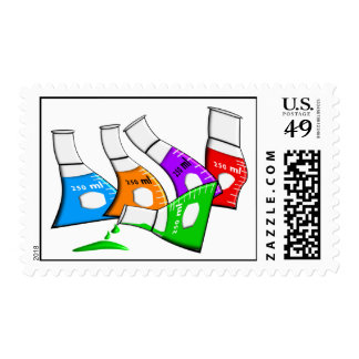 """Chemistry Beekers """"Bent Beekers"""" Design Postage"""