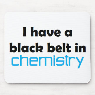 Chemistry black belt mouse pad
