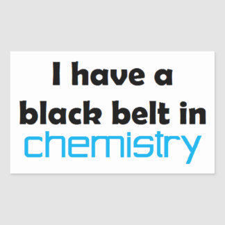 Chemistry black belt rectangular sticker