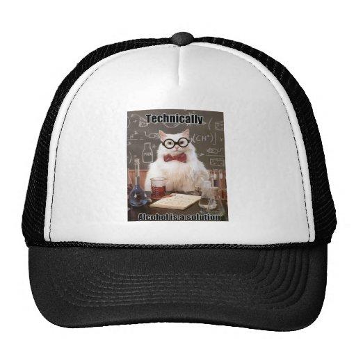 Chemistry cat meme alcohol hats