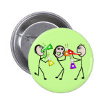 Chemistry/Chemists Stick People Gifts Buttons