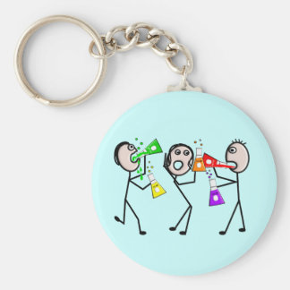 Chemistry/Chemists Stick People Gifts Keychain