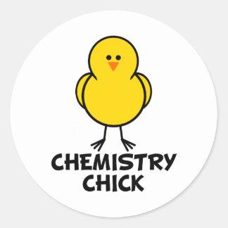 Chemistry Chick Classic Round Sticker