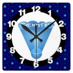 Chemistry Cloud Beaker Square Wall Clock