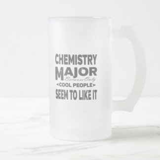 Chemistry College Major Cool People Frosted Glass Beer Mug