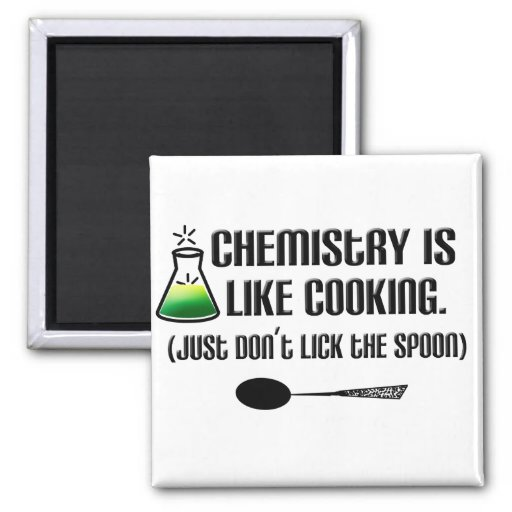 Chemistry Cooking 2 Inch Square Magnet