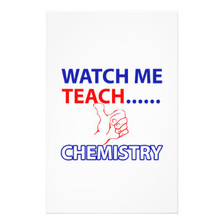 CHEMISTRY design Stationery