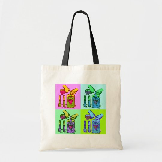 Chemistry Displacement Pop Art Tote Bag