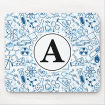 Chemistry Doodle Pad Drawing Personalized Monogram Mouse Pad