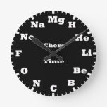 Chemistry elements of periodic table round clock