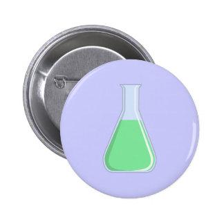 Chemistry Erlenmeyer piston chemistry flask Pinback Button