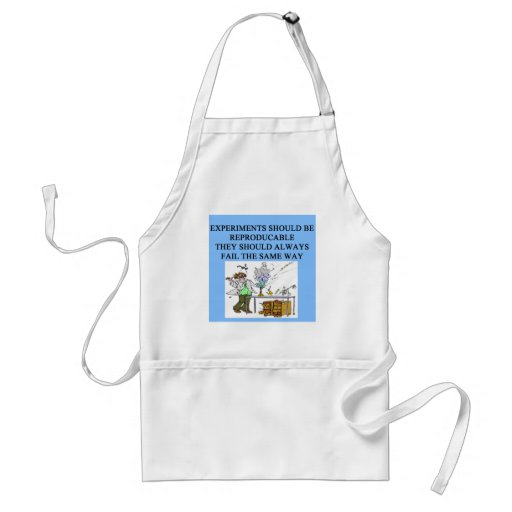 chemistry experiments adult apron