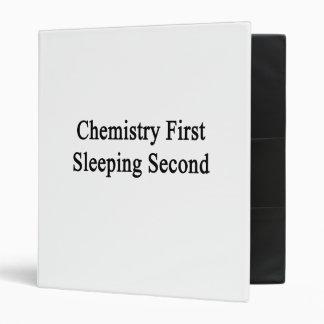Chemistry First Sleeping Second Binders